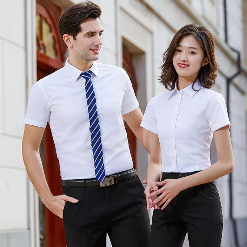 新款时尚白色商务衬衫定制