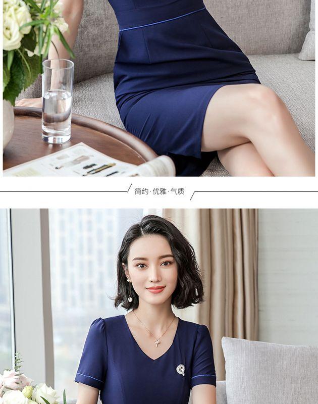 新款连衣裙时尚职业套装裙女夏季珠宝店气质东莞工装