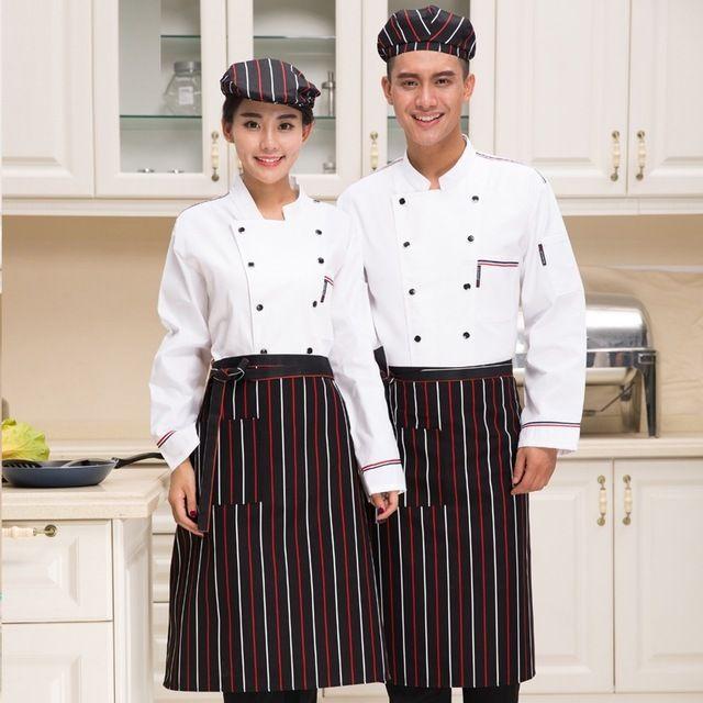 厨房工作服烘焙师蛋糕店后厨制服秋冬装