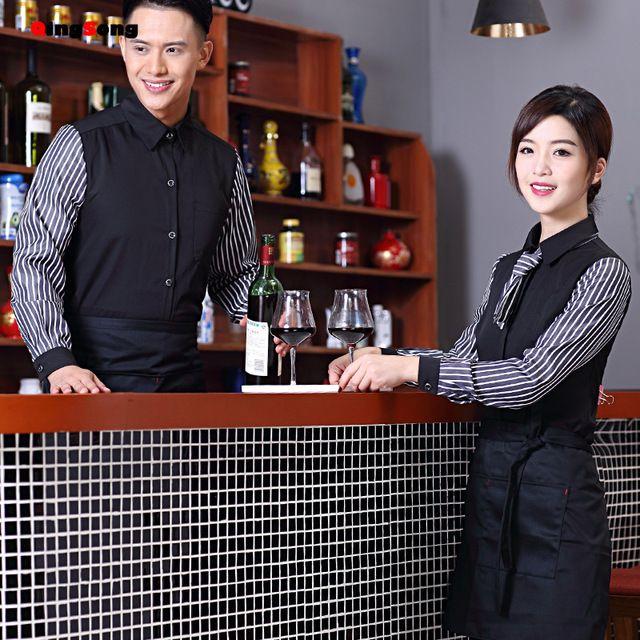 男女快西餐饮咖啡厅制服火锅饭店东莞工装长袖