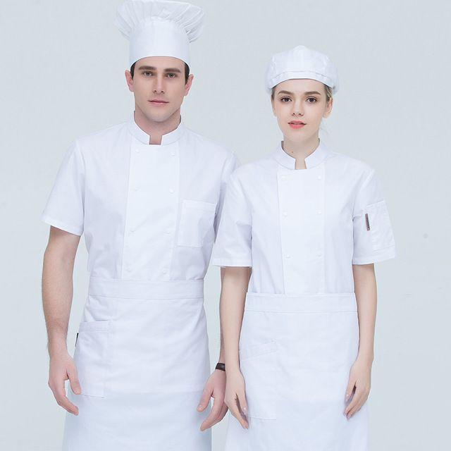 餐厅饭店厨房黑红西餐厨师东莞工作服薄款
