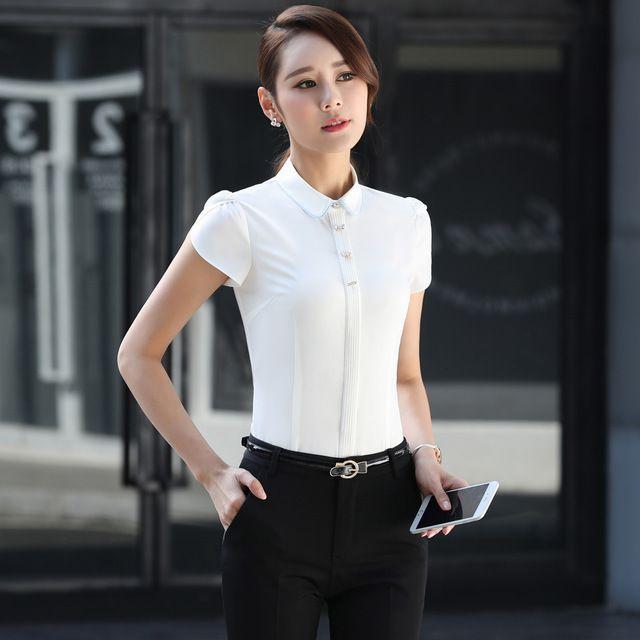 酒店前台面试收银正装东莞工作服短袖打底衬衫
