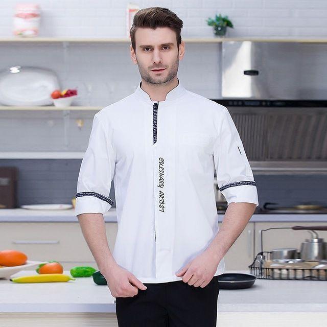 蛋糕烘焙房餐厅后厨厨房餐饮透气厨师衣服