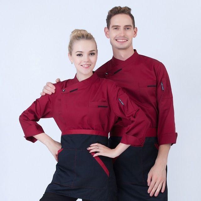 餐厅厨师服长袖 秋冬装制服 糕点师餐饮中西酒店后厨工作服新款男女