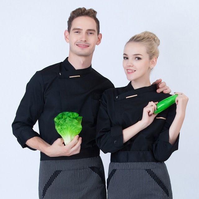 餐厅厨师服长袖 秋冬装制服 糕点师餐饮中西酒店后厨东莞工作服新款男女