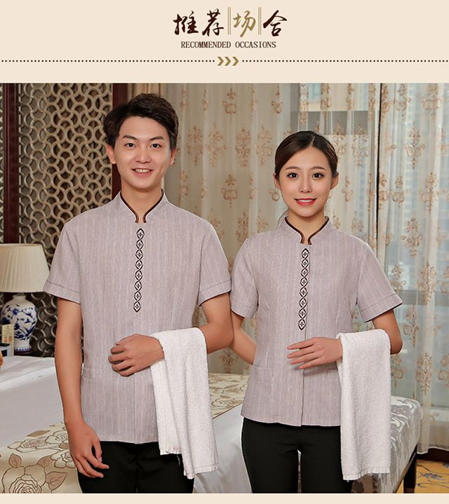 酒店服务员 工作制服 夏季中式宾馆客房阿姨物业PA保洁员东莞工装女短袖