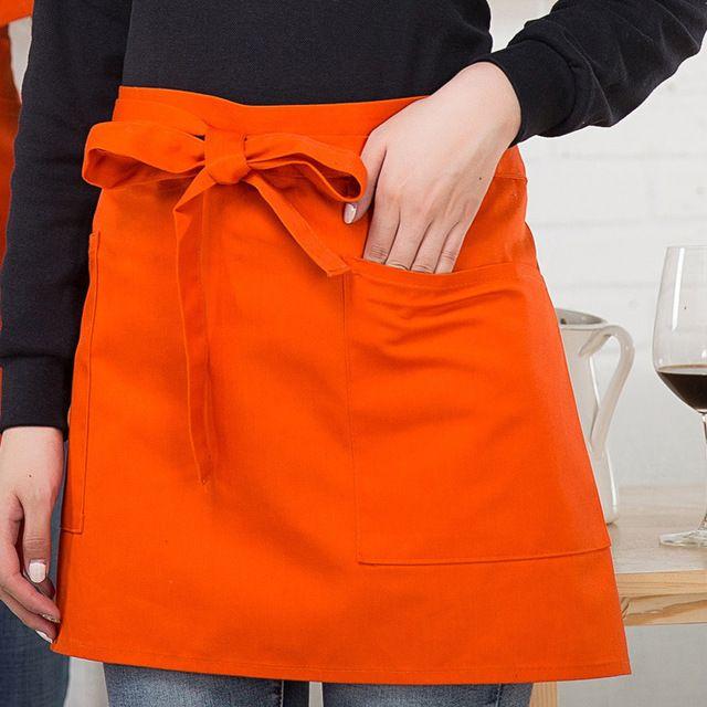 厨师围裙厨房半身围裙 酒店烘培餐厅服务员男女东莞工作服 围裙多色围裙