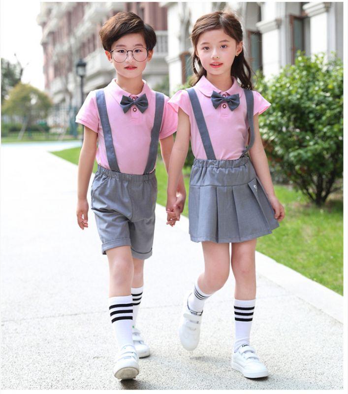 2019夏季新幼儿园园服 夏装小学生校服 英伦风套装儿童班服纯棉套装