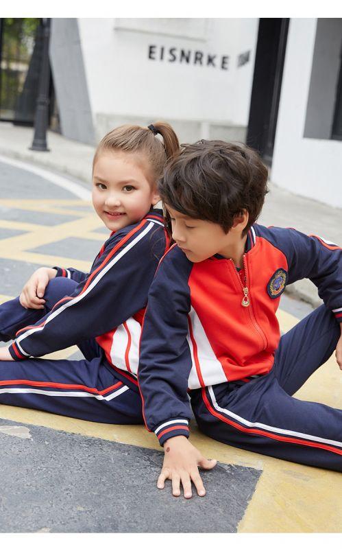秋季新款幼儿园园服 小学生班服 春秋套装 男女儿童中休闲装