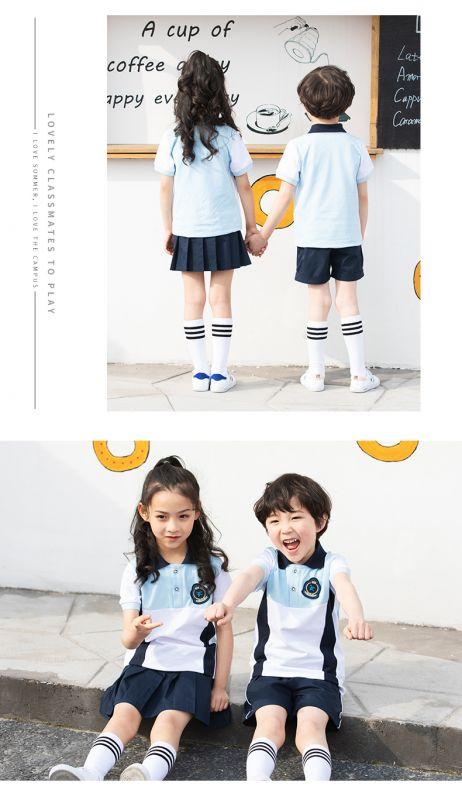 夏季新幼儿园园服 纯棉短袖运动套装 小学生校服夏装儿童班服英伦风