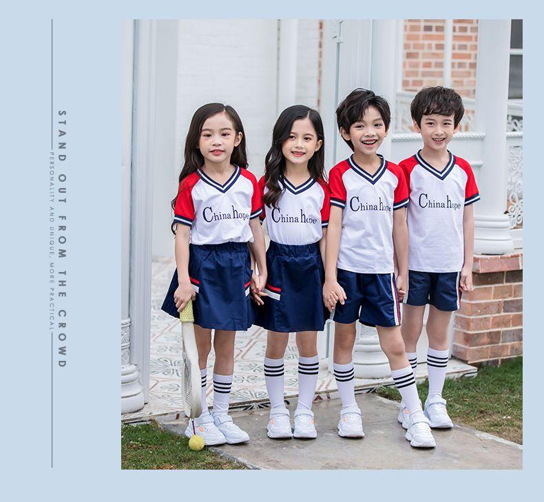 2019夏季幼儿园园服 夏装小学生校服纯棉短袖运动套装 儿童班服校服