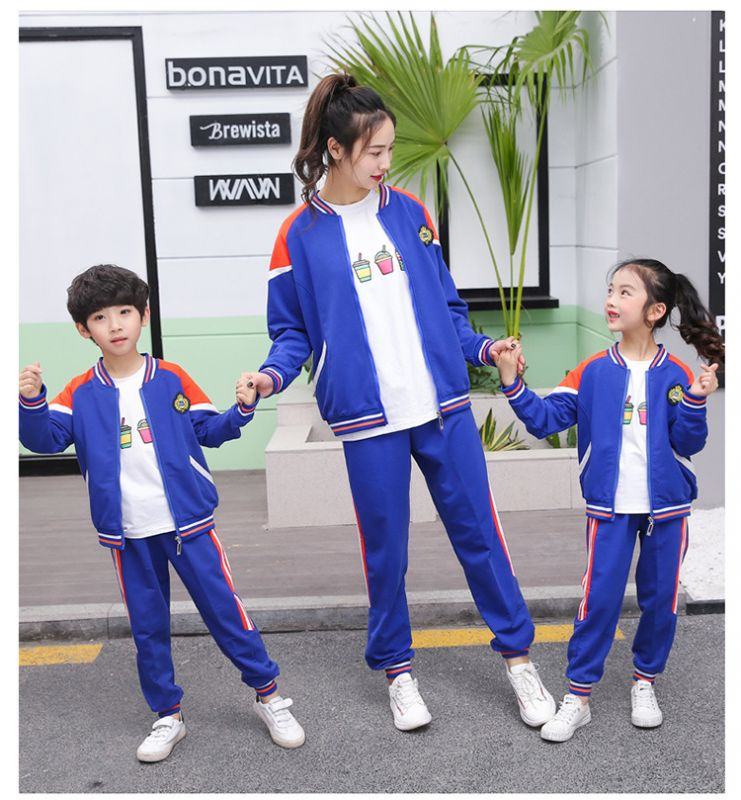春季新款小学生校服 春秋装幼儿园园服套装 男女儿童班服纯棉两件套