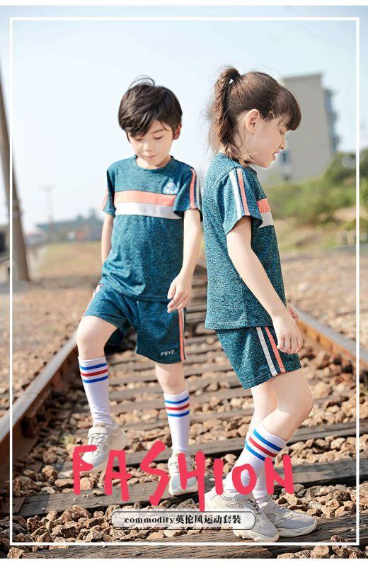 夏季新款幼儿园园服夏装 小学生校服纯棉套装 儿童班服短袖运动服