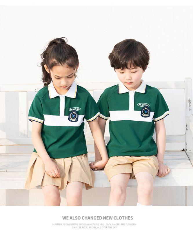2019夏季幼儿园园服夏装 小学生校服纯棉短袖运动套装 儿童班服校服 团体服