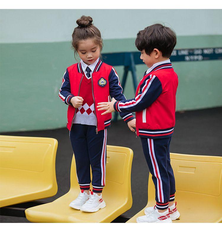 幼儿园园服 春秋装2018新款小学生校服 男女儿童运动服班服纯棉套装