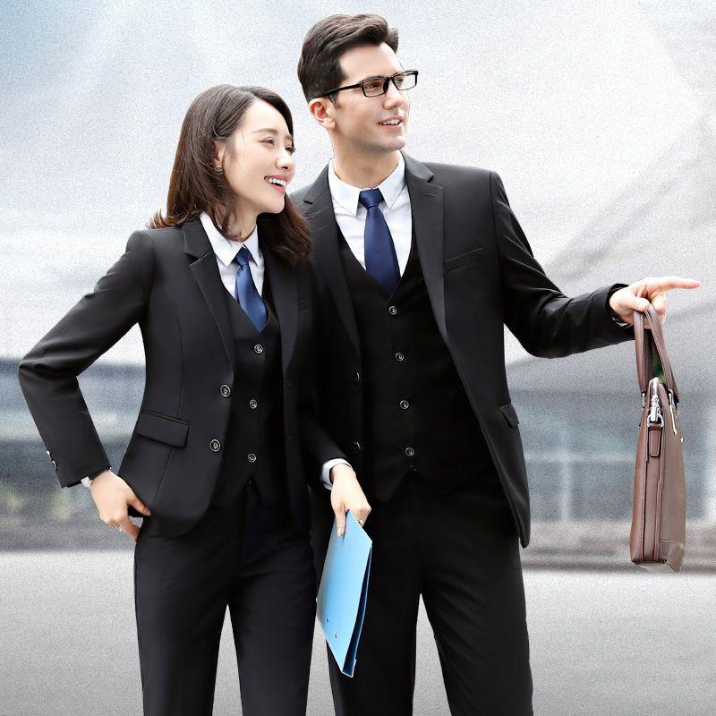 男款职业装女装西装套装女秋冬西服工作服工装4S销售银行正装