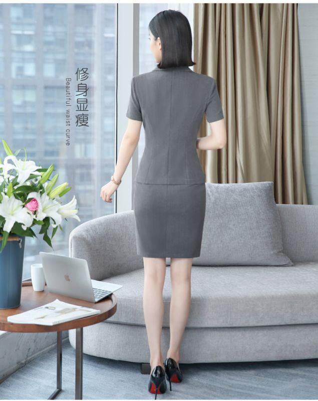 酒店前台工作服 夏装女短袖 职业西装餐厅收银领班西服套装