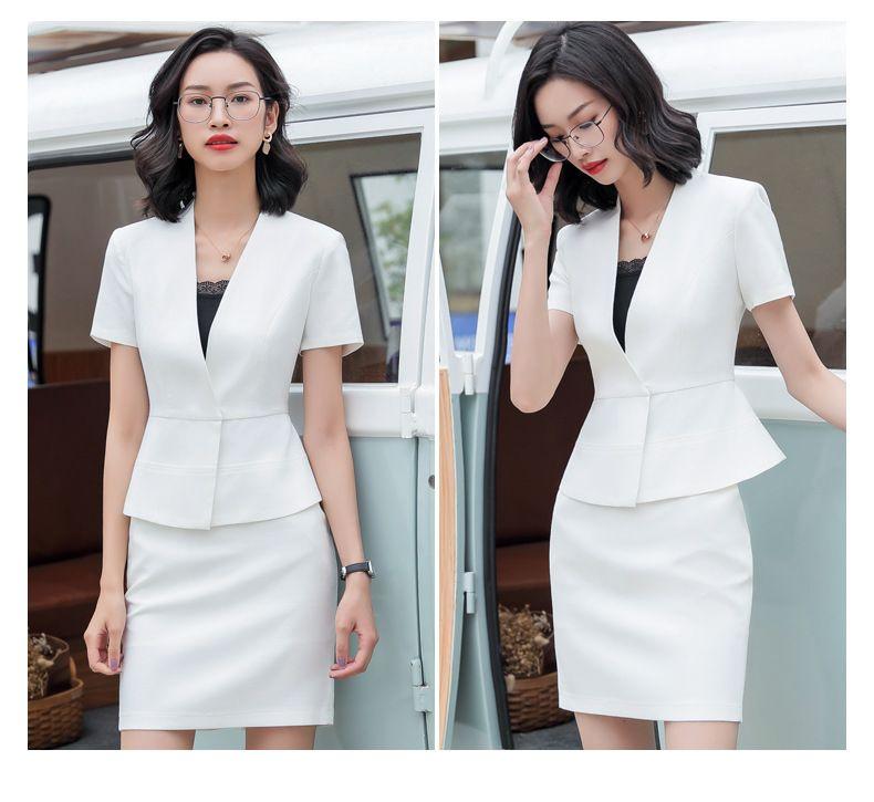 定做白领职业装女新款时尚修身小香风西装套装女春夏正装OL西服工作服