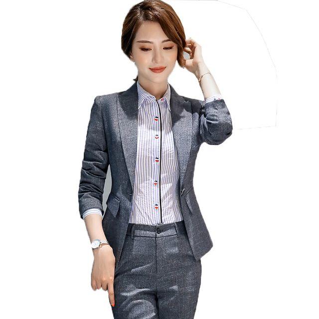 职业装定做 秋冬新款修身显瘦女士小西服长袖休闲气质百搭小西装职业套装直销