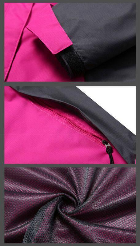 户外旅行三合一可拆卸防风防水保暖登山服装冲锋衣14-91777