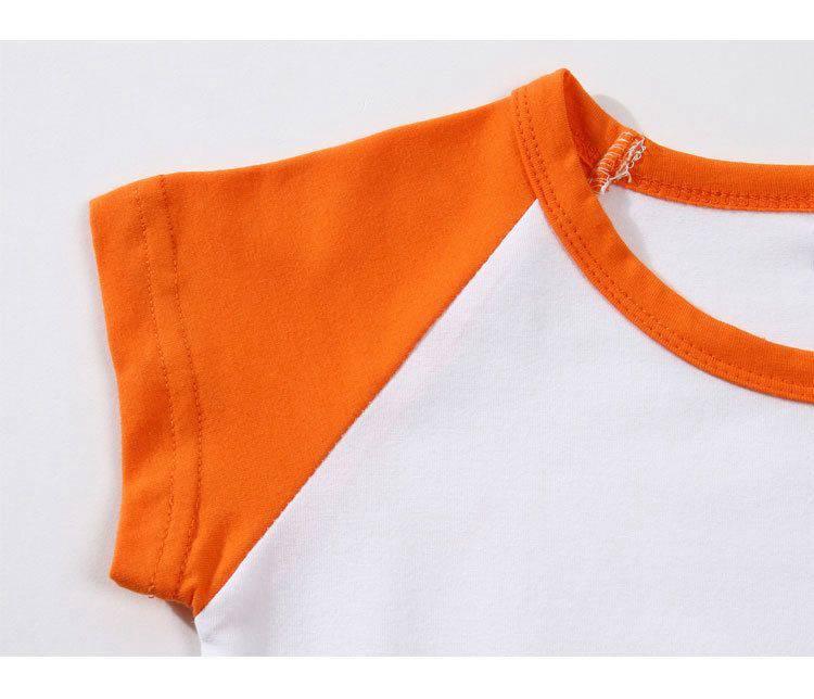 百搭显瘦简约休闲柔软舒适拼接色圆领T恤70-2223童