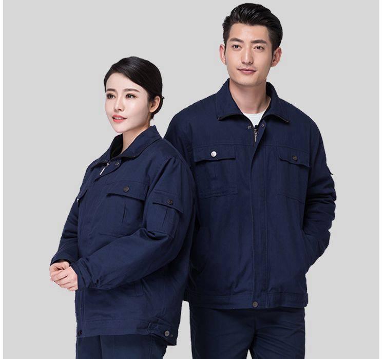 冬季透气吸汗耐磨电焊汽修车间工厂服工程服工作服长袖棉衣75-YH5022