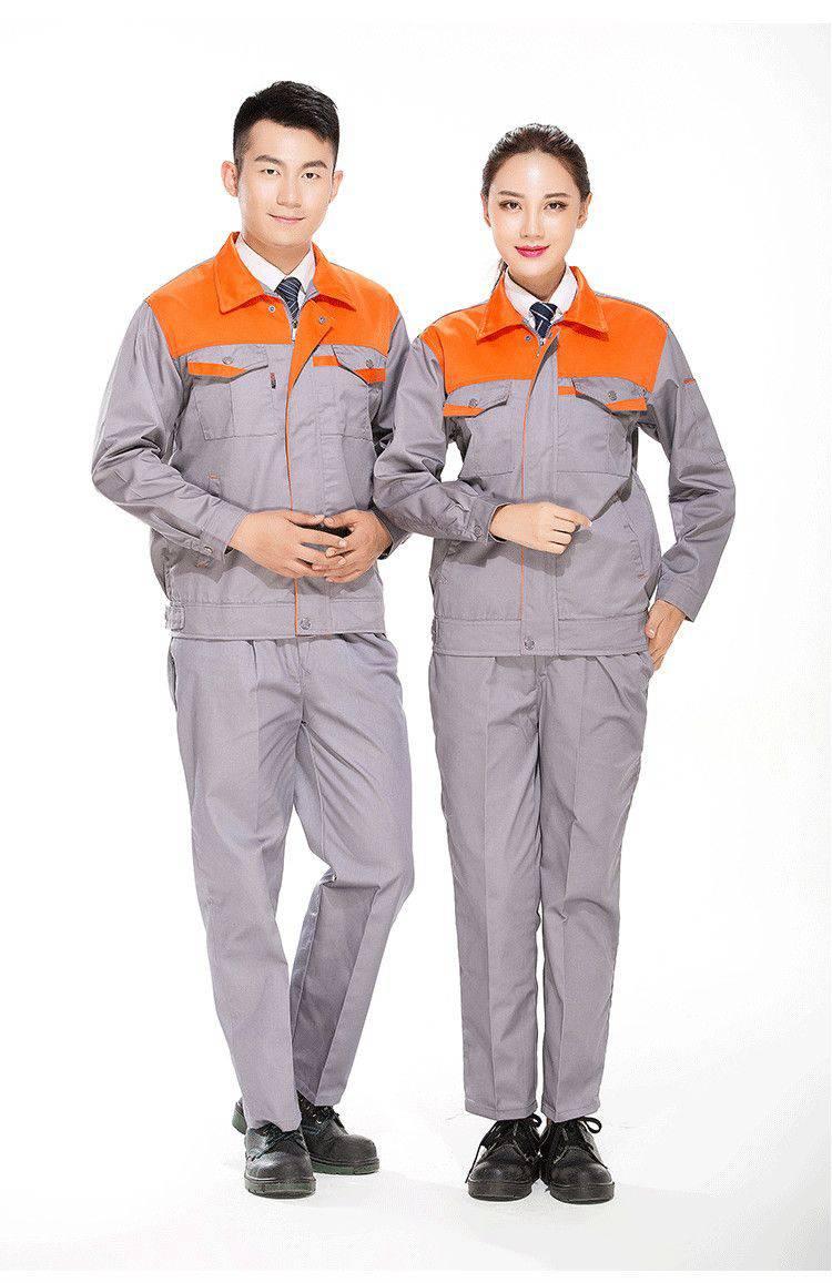 耐磨电焊工装工程服汽修车间工厂服涤棉长袖套装工作服MB-ZM-32